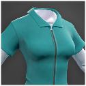 Darwin Project - blue jumpsuit