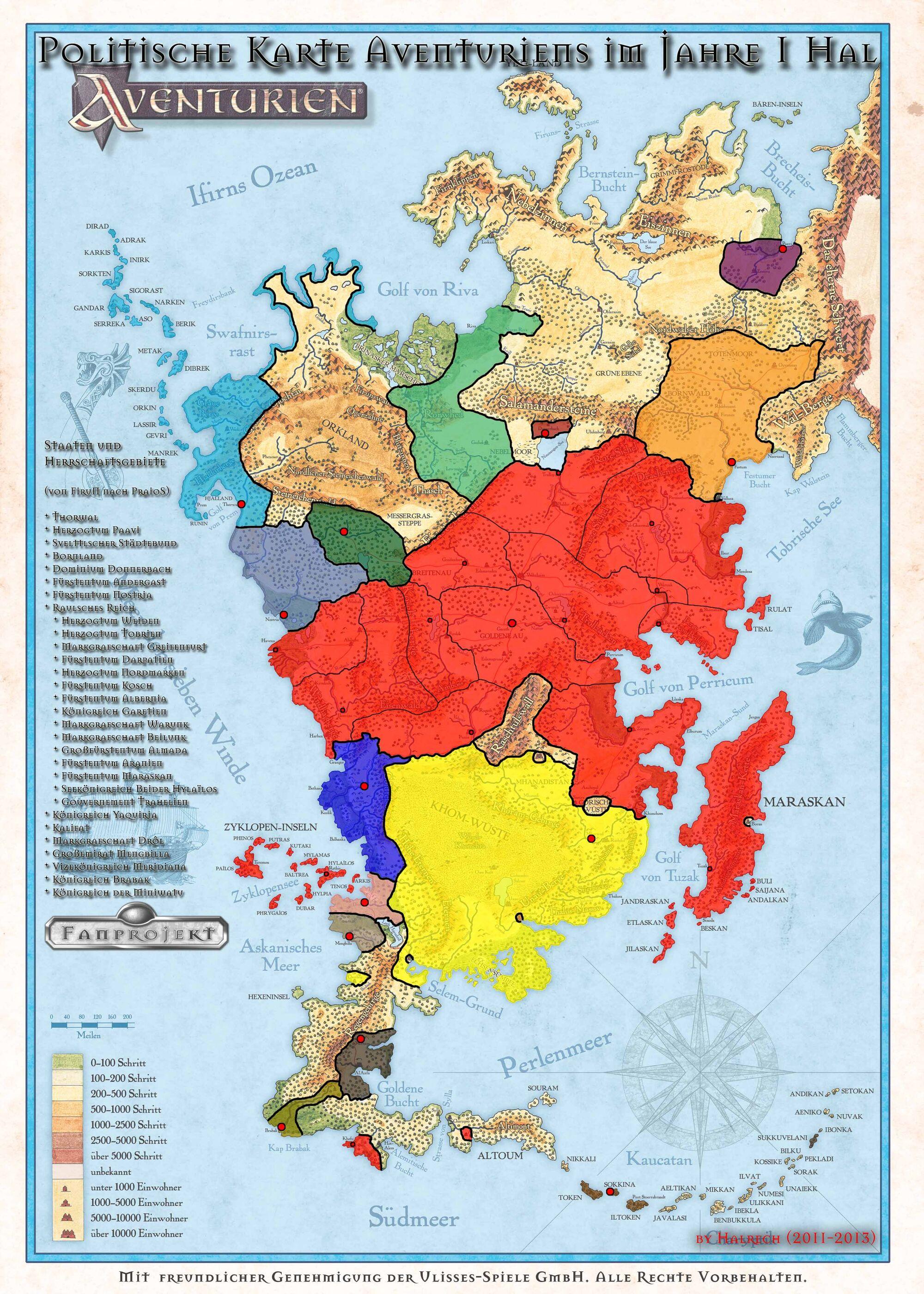 Dsa Karte Bornland.Aventurische Reiche Politische Gliederung Das Grune Auge