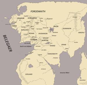 Karte Mittelerde aktualisiert