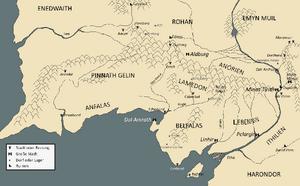 Gondor geograpisch