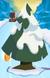 Wide Snow Pine Tree