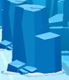 Tall ice rock