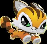 Transparent tiger