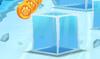 Falling ice cube