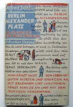 Döblin - Berlin Alexanderplatz, Originalschutzumschlag der Erstausgabe von 1929