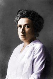 Rosa Luxemburg colorized photo