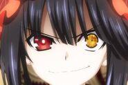 Kurumi smirking