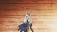 Shidou hugs Moegami
