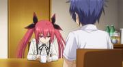 Kotori talking with Shido