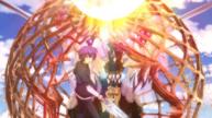 Kerubiel about to trap Shido and Mayuri