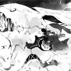 Yoshino utilisant la vraie forme de Zadkiel