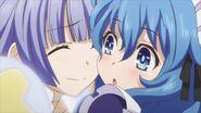 Miku hugs Yoshino