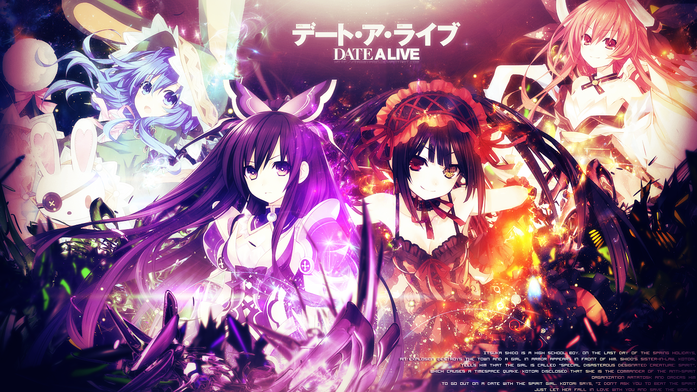 Date A Live Anime Hd Wallpaper Png
