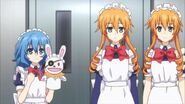 Yoshino and Yamai Sisters as maids