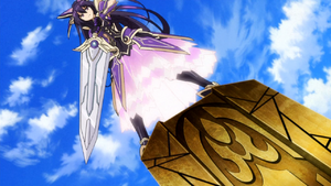 Tohka on top of throne