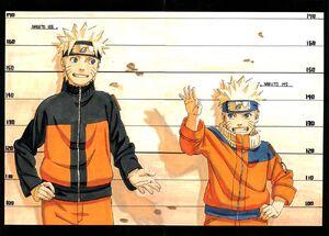 Naruto Uzumaki Part I and Part II Comparison