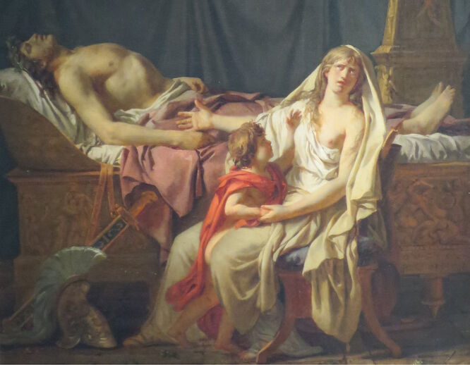 Andromache Mourning Hector (The Sorrow of Andromache) by Jacques-Louis David, 1783, Pushkin Museum