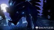 Dauntless pangar at night