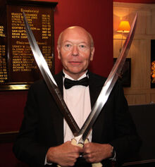Stan Nicholls with Swords of Night and Day