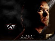 Da Vinci Code poster Langdon