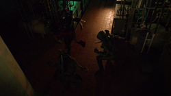 Oliver, Nyssa and Malcolm fight