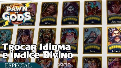 Trocar Idioma e Índice Divino - Dawn of Gods