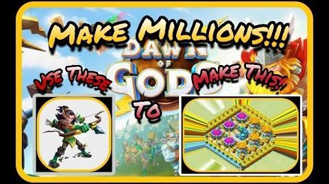 Dawn of gods - Best Army to Farm Millions Fast!