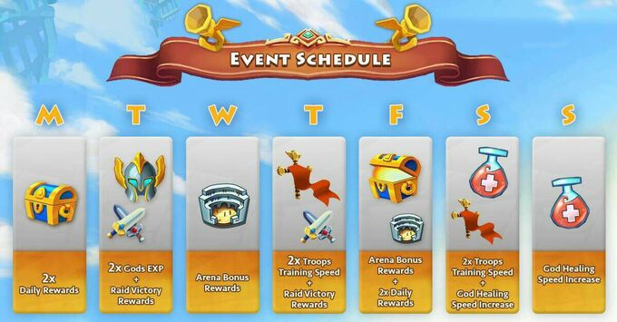 Event shedule