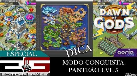 Dicas do modo Conquista - Panteão lvl 5 Dawn of Gods