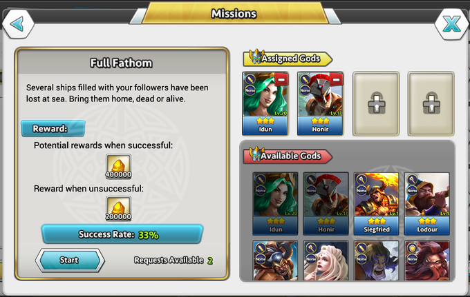 DoG Relic Mission screen