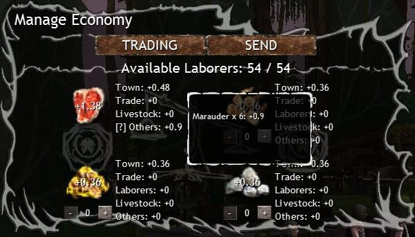 Dawn of Fantasy Vassal Manage Economy