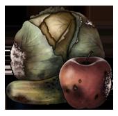 Rotten vegetables