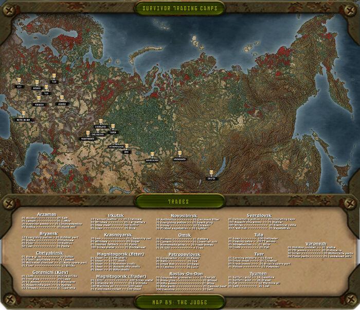 Survivor camps map