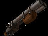 Handmade double-barreled shotgun