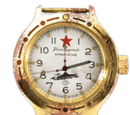 Gold Vostok watch