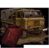 Сломанный ГАЗ-66 (с топливом)
