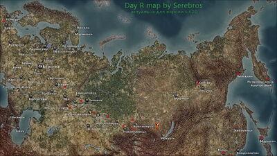 Зима карта
