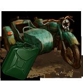 Сломанный мотоцикл (с топливом)