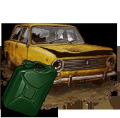 Сломанный ВАЗ-2101 (с топливом)