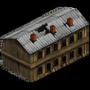 Уцелевшее здание (старое)