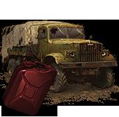 Сломанный КрАЗ-255 (с топливом)