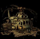 Сломанный Ми-8