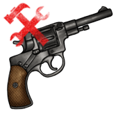 Револьвер Наган (сломан)