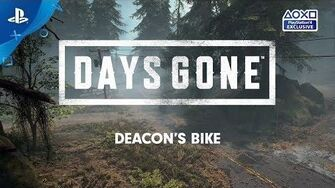Days Gone Launch-Countdown Deacons Bike PS4 deutsche Untertitel