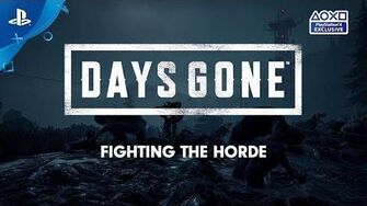 Days Gone Launch-Countdown Die Horde PS4 deutsche Untertitel