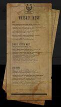 Brochure whiskey