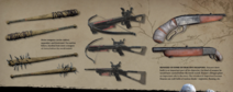 Weapons art render