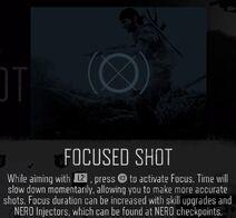 Focused shot