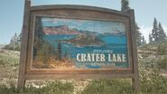 Crater lake welcome