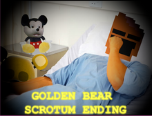 Golden bear scrotum ending